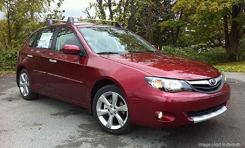 2011 Subaru Impreza Outback Sport new Camillia Red color
