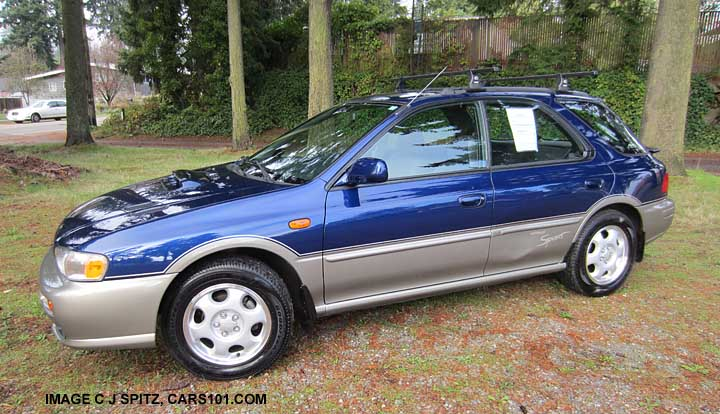 Side View, Blueridge Pearl Subaru Impreza 5 Door Hatchback Outback Sport  Wagon