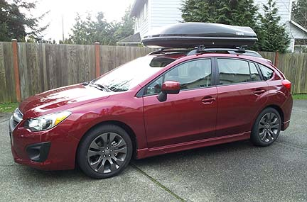 Awesome 2012 Impreza With Roof Rack Cargo Carrier Box