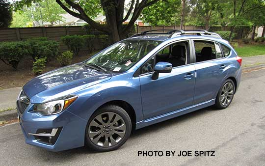 2017 Impreza Sport 5 Door Hatchback Quartz Blue Color All Sports Have Roof Rack