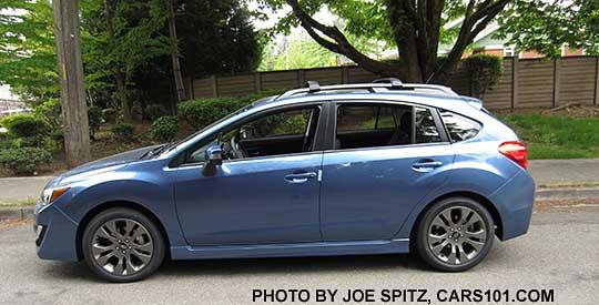 2015 Impreza Sport 5 Door Hatchback, Quartz Blue Color. All Sports Have Roof  Rack