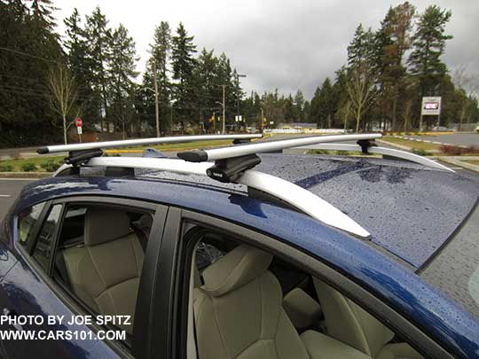 2017 Subaru Impreza Premium And Limited Standard Silver Roof Rack Rails  With Optional Thule Heavy Duty