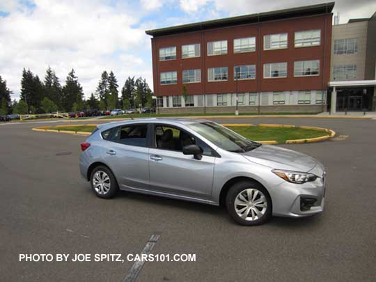 2018 subaru hatchback. brilliant hatchback 2017 subaru impreza 20i base model 5 door hatchback ice silver shown  steel and 2018 subaru hatchback