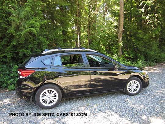 2017 Subaru Impreza 5 Door Premium Hatchback Crystal Black With Silver 16 Alloys And