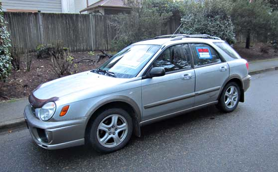 Photos Of A Silver 2002 Impreza Outback Sport