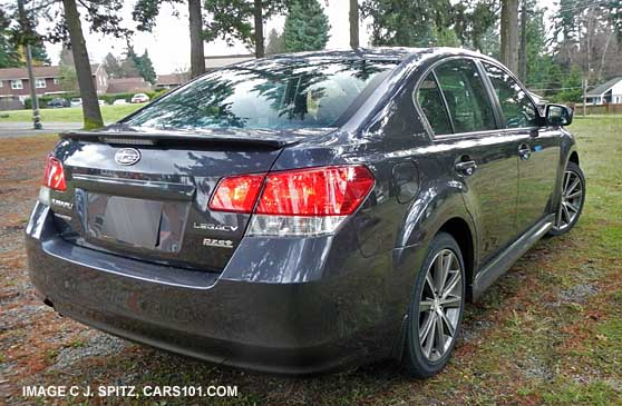 2013 Subaru Legacy 2 5l Sport Rear View With Rear Spoiler