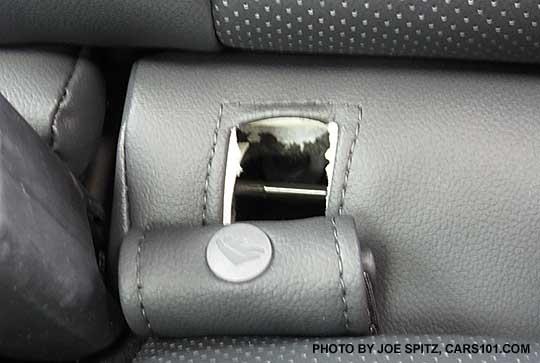 Closeup Of The Subaru Legacy Child Seat Anchor Showing Hook Latch