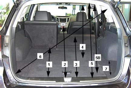 Dodge Caravan Cargo Space Dimensions