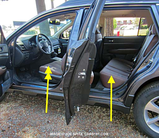 2014 Subaru Outback Seat Height Hand Measured