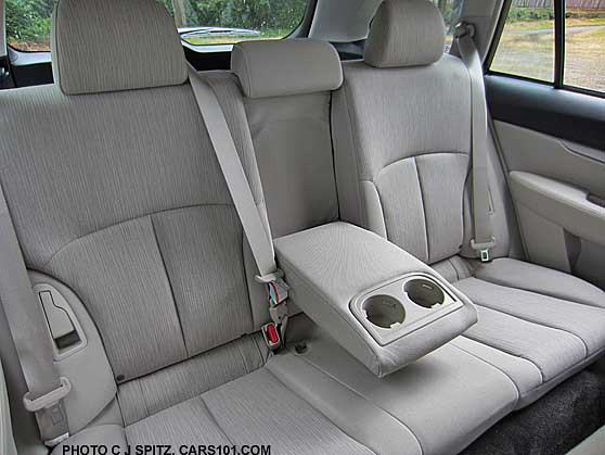 2014 subaru outback rear seat ivory cloth shown. Black Bedroom Furniture Sets. Home Design Ideas