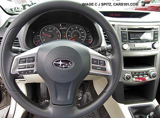 2014 Base Model Subaru Outback Vinyl Steering Wheel