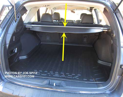 2018, 2017, 2016, 2105 Subaru Outback Cargo Measurements, Hand Measured