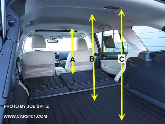 2015 Subaru Outback Cargo Floor To Ceiling Measurements