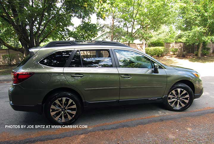 Wilderness Green 2017 Subaru Outback With Optional Body Side Moldings