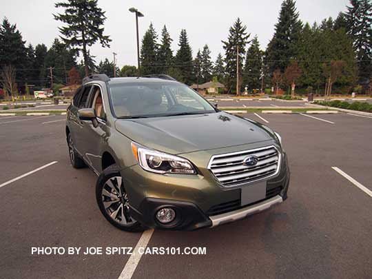 Front View Wilderness Green 2016 Subaru Outback Limited
