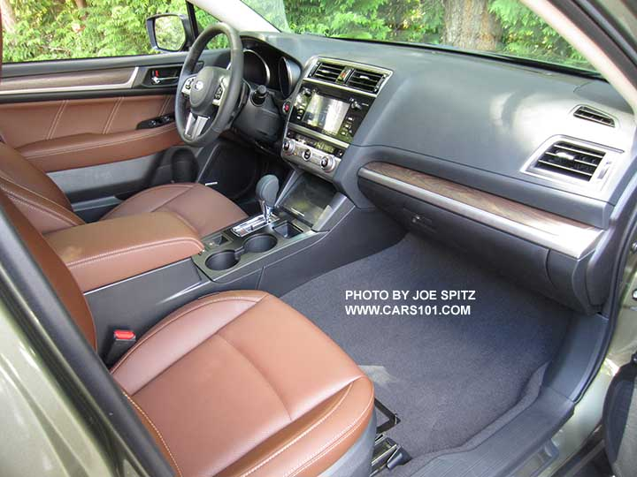 2017 Subaru Outback Touring Interior Java Brown Perforated Leather Trimmed