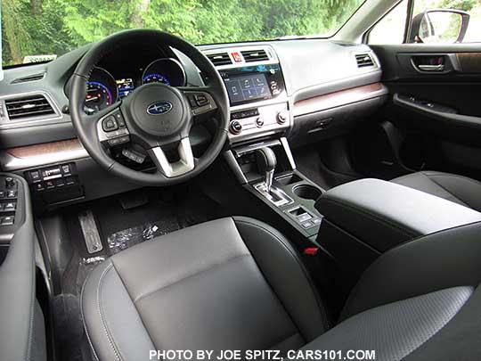 2017 Subaru Outback Limited Interior Slate Black Leather
