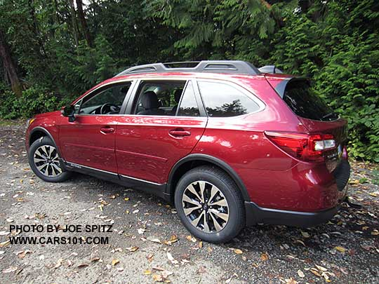 Side View 2017 Subaru Outback Limited With 18 Machined Black And Silver Wheels Venetian