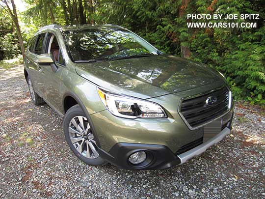 2017 Subaru Outback Touring Wilderness Green Shown Low Profile Roof Rails Chrome Trim