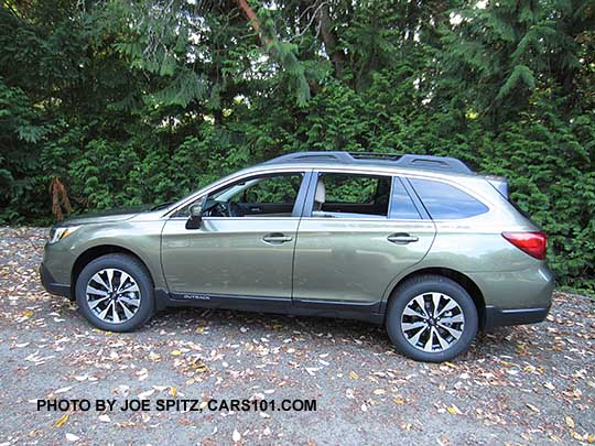 Side View 2017 Subaru Outback Wilderness Green Limited