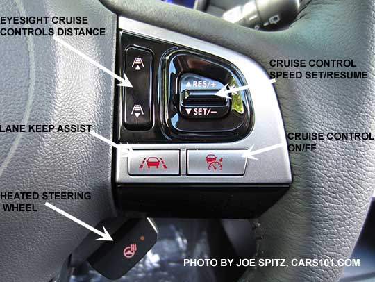 Diagrammed Closeup Of The 2017 Outback Touring Gray Leather Wred Steering Wheel S Gloss Black And Silver