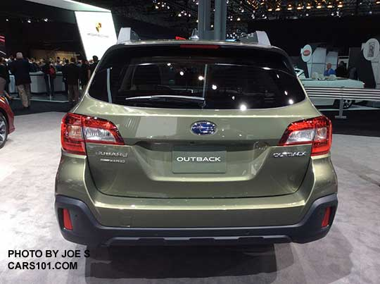2018 subaru outback colors. unique outback rear view 2018 outack limited wilderness green color shown at the ny auto  show intended subaru outback colors