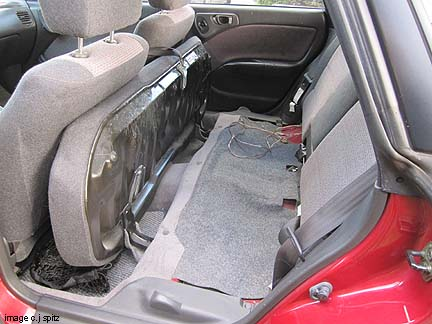 2001 prius rear seat removal