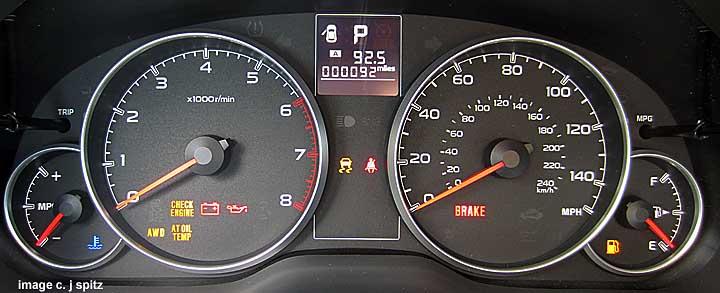 subaru dashboards, warning lights, eyesight, cruise control 2015 Subaru Outback Dashboard subaru outback instrument panel dash