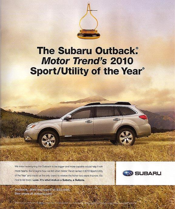 Subaru Advertising Photographs Page