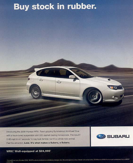 Subaru advertising photographs, page #2