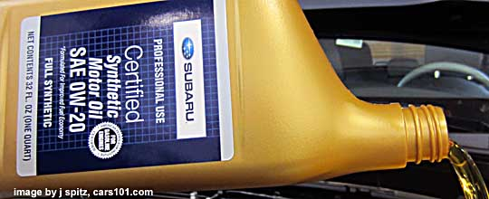 Subaru Synthetic Oil 0w 20 Quart Shown Available Starting In 2010