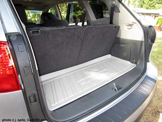 subaru tribeca 7 passenger cargo area with the 3rd row seat up. Black Bedroom Furniture Sets. Home Design Ideas