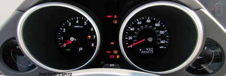 Subaru dashboards, warning lights, eyesight, cruise control