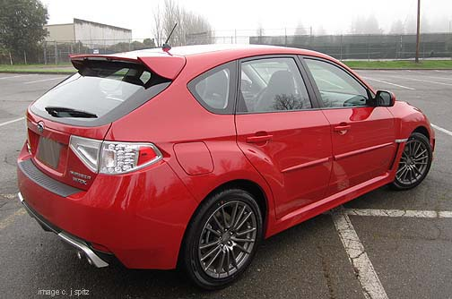 wrx 5 door 2011 lightning red shown optional body side