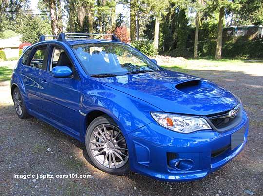 2013 Subaru Wr Blue Wrx 5 Door Hatchback With Cross Bars