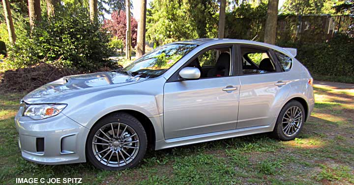 subaru impreza wrx 2014 hatchback. 2014 subaru impreza wrx 5 door side view ice silver color hatchback