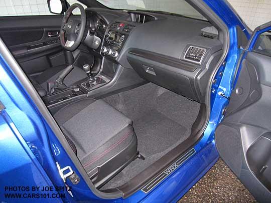 2015 Subaru WRX Base Model Interior, With Optional Side Sill Plates