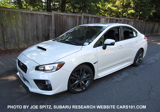 2016 White Impreza Wrx Limited Has Black Inner Headlight Surrounds 18 Gray Splitspoke Alloys