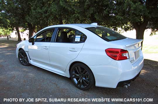 Rear View 2016 Wrx Limited Sedan Lip Spoiler 18 5 Split