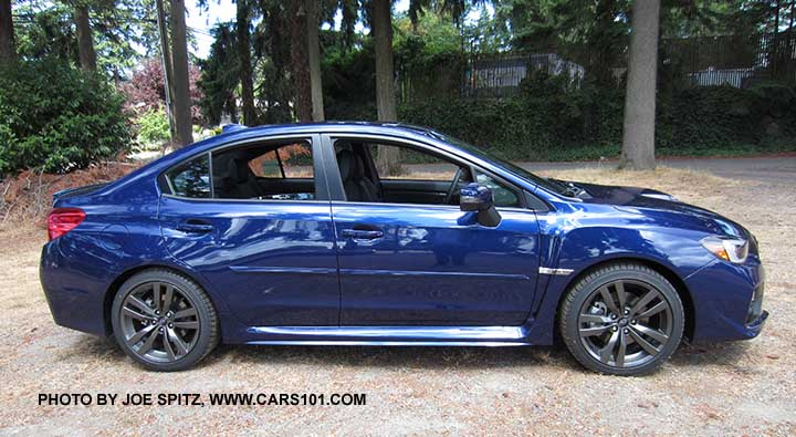 Profile Of The 2016 Wrx Limited Lapis Blue Color
