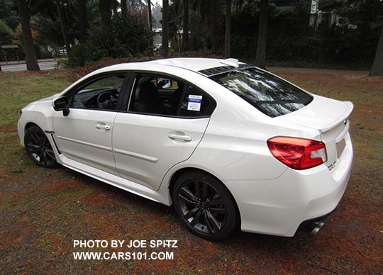 2017 And 2016 Wrx Limited Crystal White With Optional Side Moldings Roof Mounted