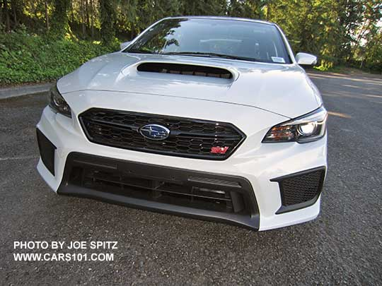 2018 subaru sti white. perfect subaru 2018 subaru sti front grill with logo bumper fascia crystal white  color throughout subaru sti e