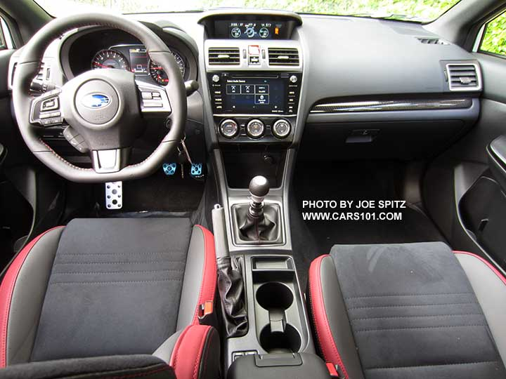 2018 Subaru Wrx Premium Interior And Dash With Optional Performance Package 12 Including Black Alcantara