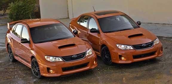 2013 subaru wrx and sti, tangerine orange color, only 300 sedans, spring 2013