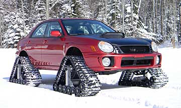2002 WRX with tractor treads