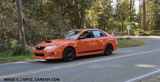 2013 wrx special edition sedan, tangerine orange