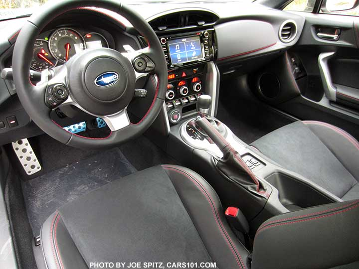 2017 Subaru Brz Limited Interior Black Alcantara Seats With Leather Bolsters Red Sching