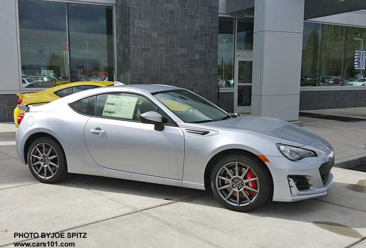 2017 Ice Silver Subaru Brz Limited With Optional Performance Pkg Notice The Wheels Red
