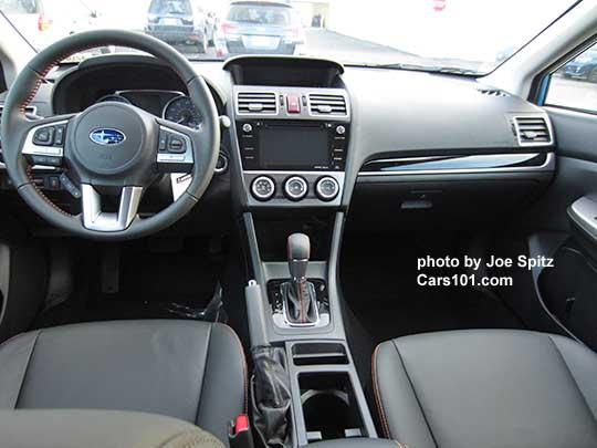 Front Dash View 2016 Subaru Crosstrek Limited Gloss Black Trim Leather Shown