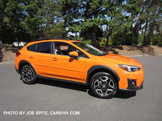 Sunshine Orange 2018 Subaru Crosstrek Limited Has 18 Alloy Wheels Shown With Body Side